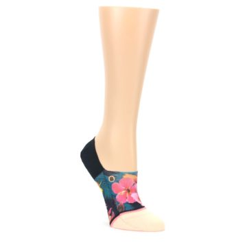 MEDIUM-Peach-Teal-Pink-Orchids-Womens-No-Show-Liner-Socks-STANCE