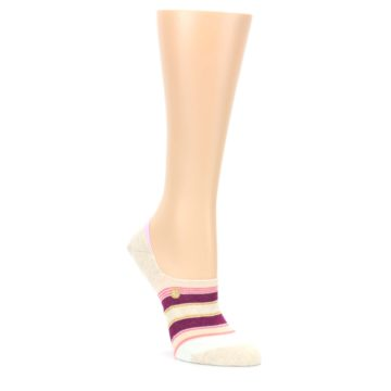 MEDIUM-Purple-Pink-Cream-Stripes-Womens-No-Show-Liner-Socks-STANCE
