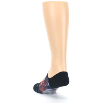 Image of Black Multicolor Eagle Defender Men's No Show Liner Socks (back-17)