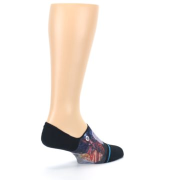 Image of Black Multicolor Eagle Defender Men's No Show Liner Socks (side-1-23)