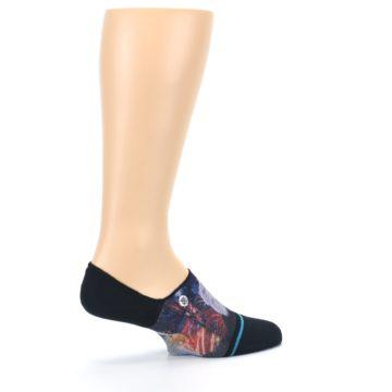 Image of Black Multicolor Eagle Defender Men's No Show Liner Socks (side-1-24)