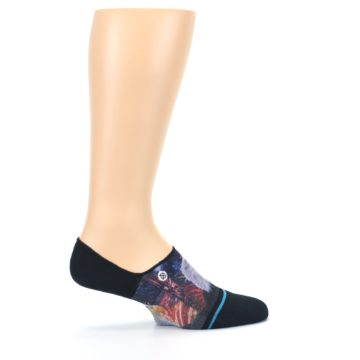 Image of Black Multicolor Eagle Defender Men's No Show Liner Socks (side-1-25)