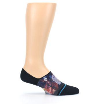 Image of Black Multicolor Eagle Defender Men's No Show Liner Socks (side-1-26)
