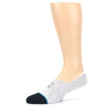 Image of Gray Black Teal Miss Merica Men's No Show Liner Socks (side-2-10)