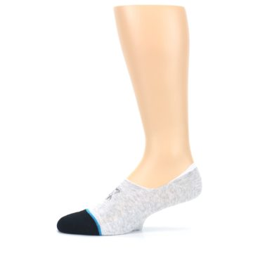 Image of Gray Black Teal Miss Merica Men's No Show Liner Socks (side-2-11)