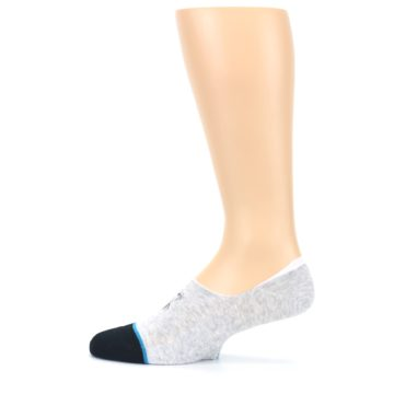 Image of Gray Black Teal Miss Merica Men's No Show Liner Socks (side-2-12)