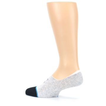 Image of Gray Black Teal Miss Merica Men's No Show Liner Socks (side-2-13)