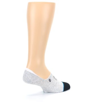 Image of Gray Black Teal Miss Merica Men's No Show Liner Socks (side-1-back-22)