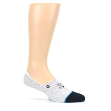 Image of Gray Black Teal Miss Merica Men's No Show Liner Socks (side-1-25)
