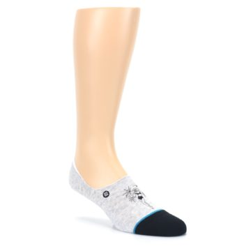Image of Gray Black Teal Miss Merica Men's No Show Liner Socks (side-1-27)