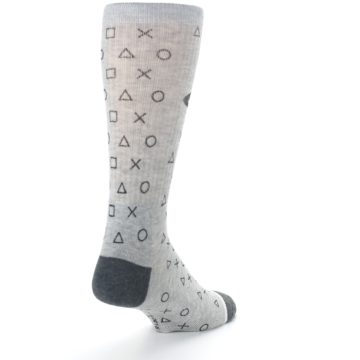 Image of Gray Black Playstation Logo Men's Casual Socks (side-1-back-21)