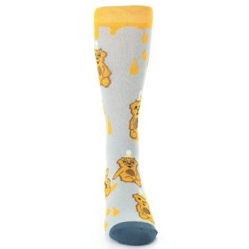 Image of Slate Gold Honey Bear Men's Dress Socks (front-04)