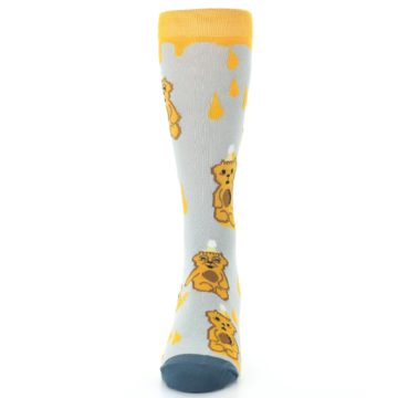 Image of Slate Gold Honey Bear Men's Dress Socks (front-05)