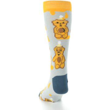 Image of Slate Gold Honey Bear Men's Dress Socks (back-17)