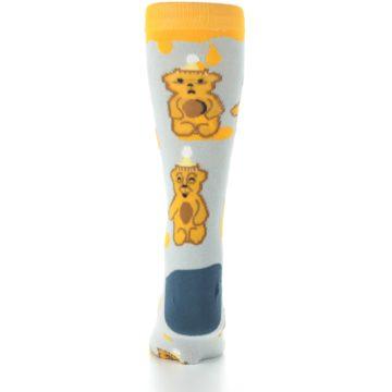 Image of Slate Gold Honey Bear Men's Dress Socks (back-18)
