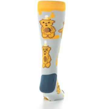 Image of Slate Gold Honey Bear Men's Dress Socks (back-19)