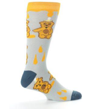 Image of Slate Gold Honey Bear Men's Dress Socks (side-1-24)