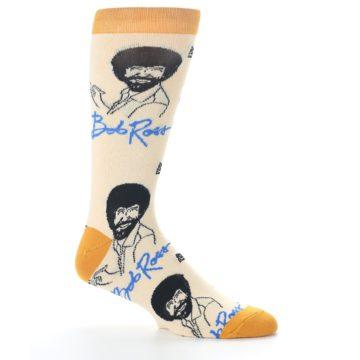 Image of Tan Gold Bob Ross Signature Men's Dress Socks (side-1-25)