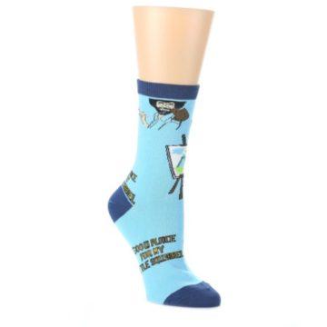 Blue-Bob-Ross-Little-Squirrel-Womens-Dress-Socks-Oooh-Yeah-Socks