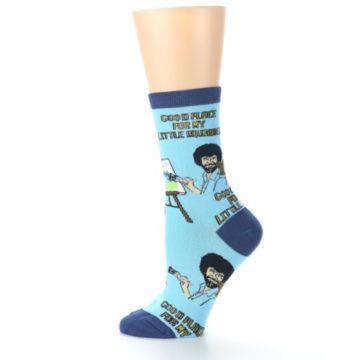Image of Blue Bob Ross Little Squirrel Women's Dress Socks (side-2-12)