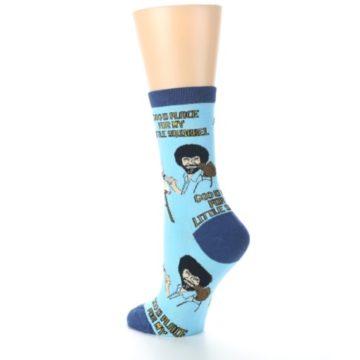 Image of Blue Bob Ross Little Squirrel Women's Dress Socks (side-2-back-15)