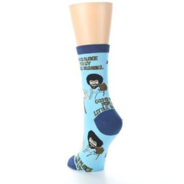 Image of Blue Bob Ross Little Squirrel Women's Dress Socks (side-2-back-16)