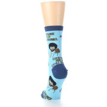 Image of Blue Bob Ross Little Squirrel Women's Dress Socks (back-17)