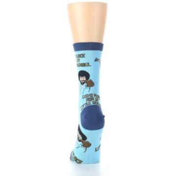 Image of Blue Bob Ross Little Squirrel Women's Dress Socks (back-18)