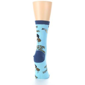 Image of Blue Bob Ross Little Squirrel Women's Dress Socks (side-1-back-20)