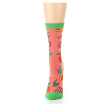Image of Peach Green Just Peachy Women's Dress Socks (side-2-front-06)