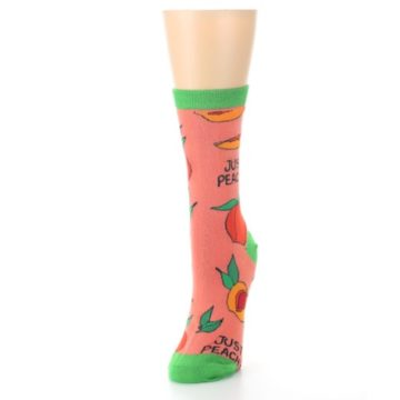 Image of Peach Green Just Peachy Women's Dress Socks (side-2-front-07)
