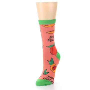 Image of Peach Green Just Peachy Women's Dress Socks (side-2-front-08)