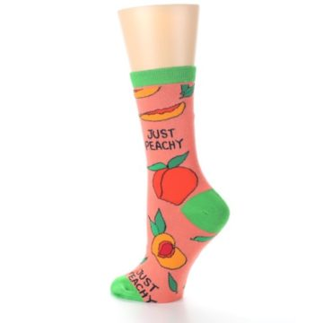 Image of Peach Green Just Peachy Women's Dress Socks (side-2-back-14)