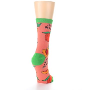 Image of Peach Green Just Peachy Women's Dress Socks (side-1-back-21)