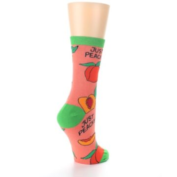 Image of Peach Green Just Peachy Women's Dress Socks (side-1-back-22)