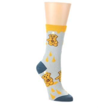 Slate-Gold-Honey-Bear-Womens-Dress-Socks-Oooh-Yeah-Socks