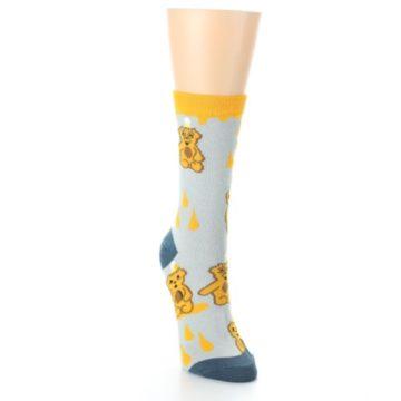 Image of Slate Gold Honey Bear Women's Dress Socks (side-1-front-03)