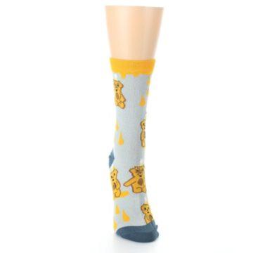 Image of Slate Gold Honey Bear Women's Dress Socks (front-04)