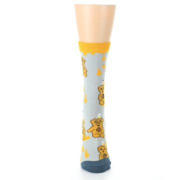 Image of Slate Gold Honey Bear Women's Dress Socks (front-05)