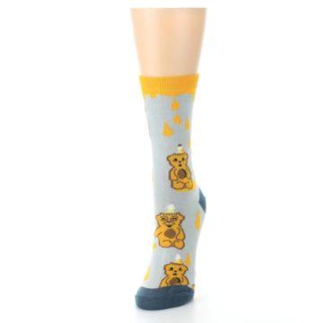 Image of Slate Gold Honey Bear Women's Dress Socks (side-2-front-07)