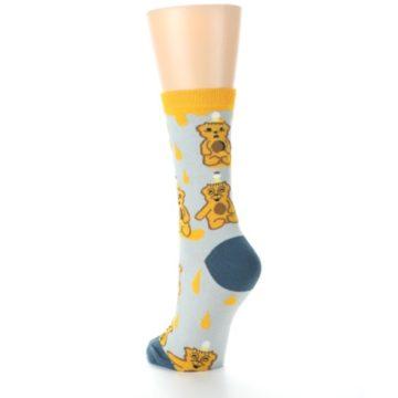 Image of Slate Gold Honey Bear Women's Dress Socks (side-2-back-16)