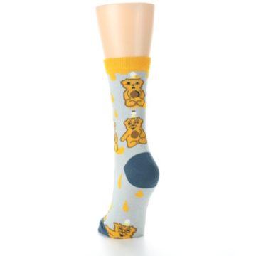 Image of Slate Gold Honey Bear Women's Dress Socks (back-17)