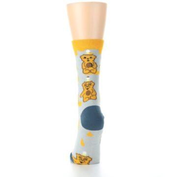 Image of Slate Gold Honey Bear Women's Dress Socks (back-18)