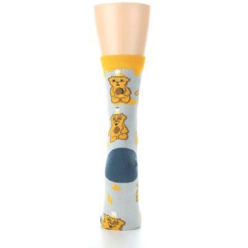Image of Slate Gold Honey Bear Women's Dress Socks (back-19)
