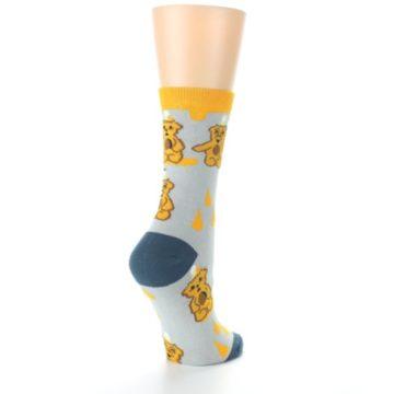 Image of Slate Gold Honey Bear Women's Dress Socks (side-1-back-22)