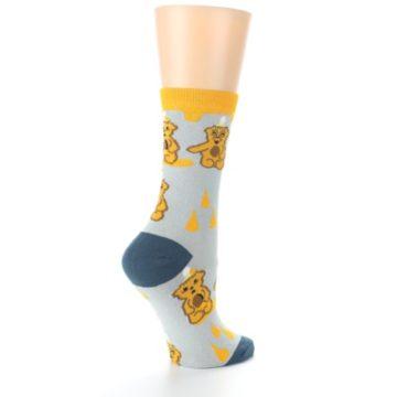 Image of Slate Gold Honey Bear Women's Dress Socks (side-1-23)