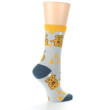Image of Slate Gold Honey Bear Women's Dress Socks (side-1-24)