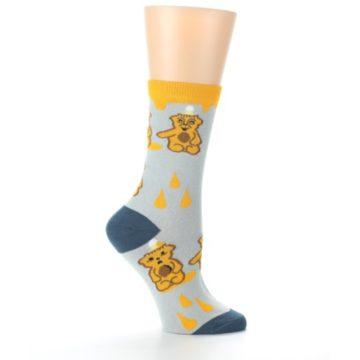 Image of Slate Gold Honey Bear Women's Dress Socks (side-1-25)