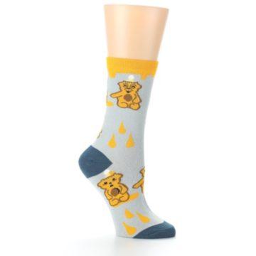 Image of Slate Gold Honey Bear Women's Dress Socks (side-1-26)