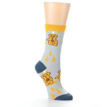 Image of Slate Gold Honey Bear Women's Dress Socks (side-1-27)